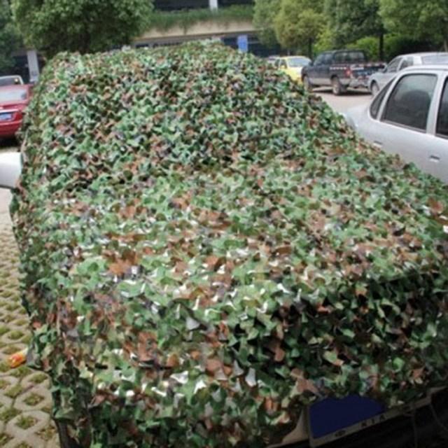 1.5 M * 5 M Militar Ao Ar Livre Sol Abrigo Net Caça Camping Selva Woodland Camo Blinds Carro Encerado-cobre tenda VG082 T15 0.5