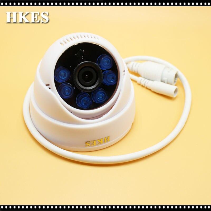 HKES 2pcs/lot  Indoor 1280 x 960P 1.3MP 6LED IR Dome IP Camera Night Vision P2P IP Security Camera with IR-Cut 4pcs lot 960p indoor night version ir dome camera 4 in1 camera 3 6mm lens p2p onvif abs plastic housing