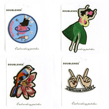 Fashion Dance Girl Card Specification Patches Embroidery Patch for Iron on Clothing Embroidered DIY Apparel Accessories