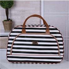 Womens Travel Bags 2019 Fashion Pu Leather Large Capacity Waterproof Print Luggage Duffle Bag Casual Bolsa