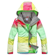 Free shipping Gsou Snow Winter Women Ski Jacket Waterproof Windproof Outdoor Women Snowboard Skiing Suit Warm Breathable Coat gsou snow men ski jacket snowboard jacket windproof waterproof outdoor sport wear skiing snowboard clothing male winter jacket
