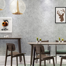 vintage nostalgic industrial wind non-woven plain solid color cement gray wallpapers barber shop restaurant office wall paper