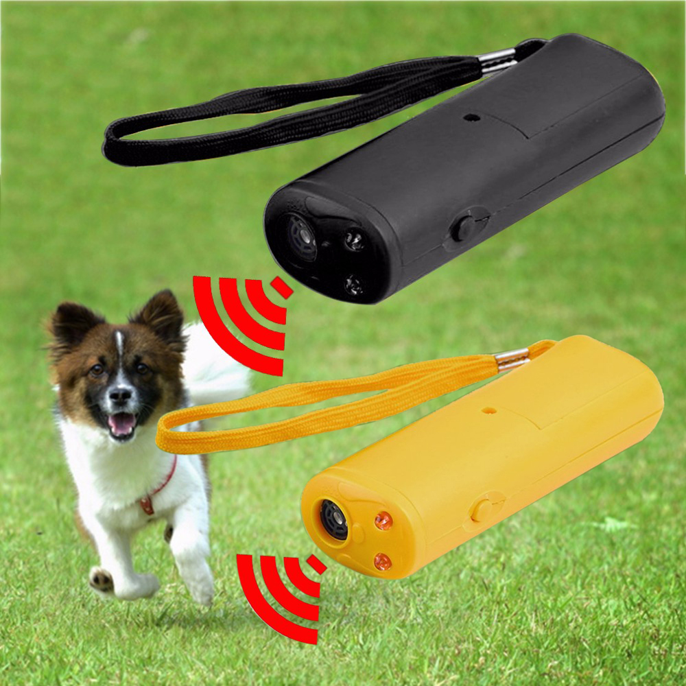 3 in 1 Anti-Barking Ultrasonic Pet Training Device Hundkatter Repeller Pet Training Device Trainer Med LED Light Pet Accessories