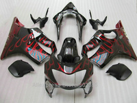 Red Flames Fairings For Honda CBR 600 F4 1999 2000 or 99 00 ( Best quality ) cbr600 Injection fairing kit xl72