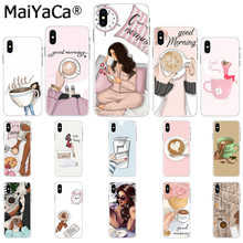 Maiyaca Good morning girl boss coffee Black TPU Phone Case Cover for Apple iphone 11 pro 8 7 66S Plus X XS MAX 5S SE XR(China)