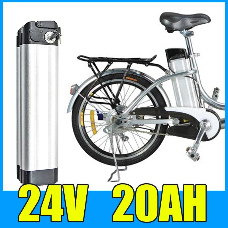 Lithiová baterie 24V 20AH, hliníková slitina, 29,4V elektrická jízdní kolo Scooter E-bike Doprava zdarma
