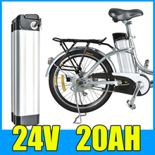 24V 20AH Lithium Battery , Aluminum alloy Battery Pack , 29.4V Electric bicycle Scooter E-bike Free Shipping