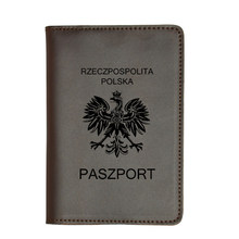 Poland national emblem Travel Cover Passport Card Holder wallets Travel Accessories Crazy Horse Leather Polish passport cover(China)