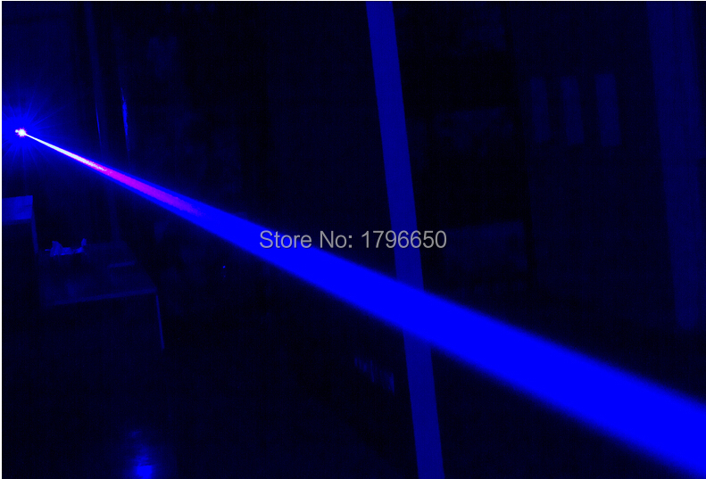 high powered Military blue laser pointers 300000m 300w 450nm Flashlight burning match dry wood candle black cigarettes glasses in Lasers from Sports Entertainment