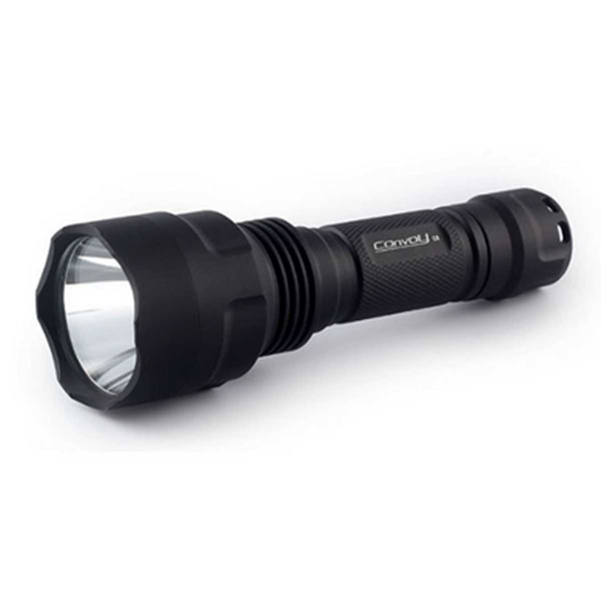 NEW Convoy Aluminum alloy Waterproof C8 AK47 7135*6 8 Modes 860LM  Integrated Head LED Flashlight Torch For Outdoor Sports
