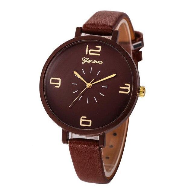 Elegant Watches Women Fashion Quartz Watch Faux Leather Ladies Bracelet Watches Clock Female Dress Relogios reloj mujer #504