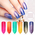 Hot Sale Sioux 1pc 6ml Nail Gel 24 Colors Thermo Varnish Temperature Change Nail Mood Color UV Polish Gel For Nail Soak Off Gel