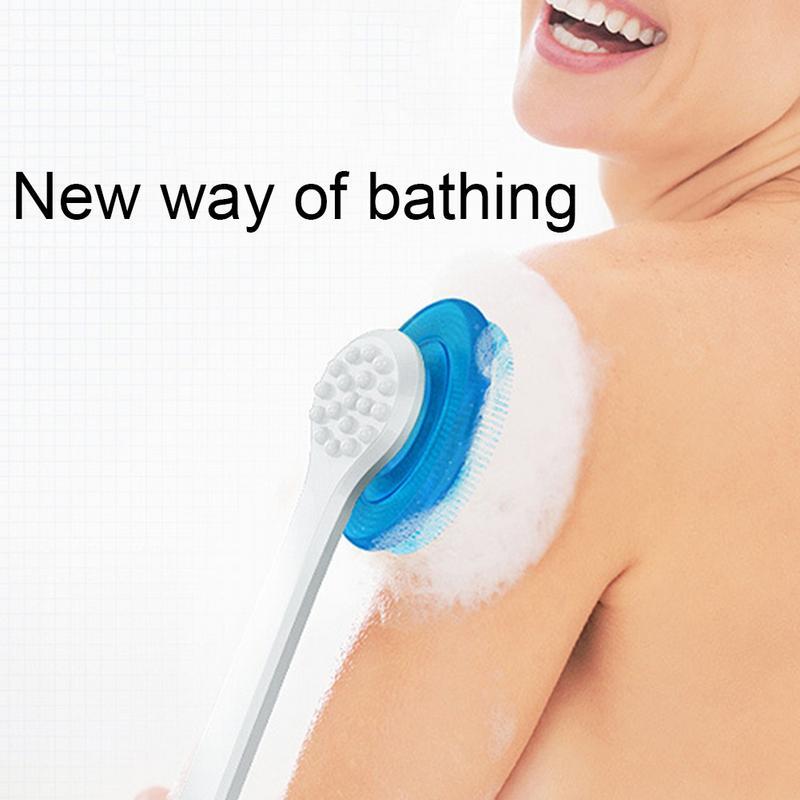Bath Back Brush Long Handle Adult Soft Hair Baby Bath Artifact Bath Brush Long Handle Back Artifact Silicone Bath Body Brush