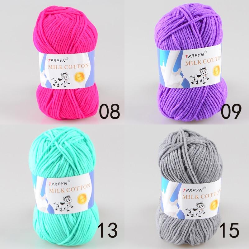 TPRPYN 1 шт. = 50 г пряжа для вязания крючком из молочного хлопка, мягкая теплая Детская Пряжа для ручного вязания