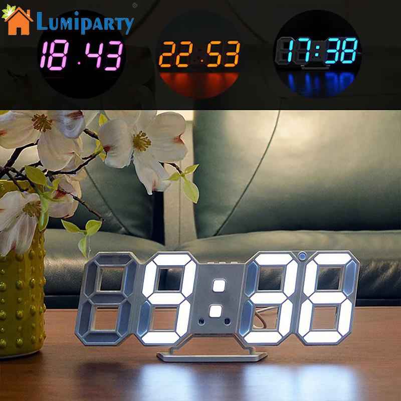 LumiParty Creative Night Light 3D LED Clock Wall Sticker Set DIY Art Mural Home Bedroom Decoration Wall Light bohemian print wall art sticker