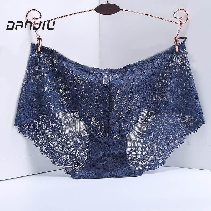 DANJIU Women Breathable Panties Sexy Lace Women's Briefs Hollow Flowers Elegant Woman Lingerie Calcinha Underpants