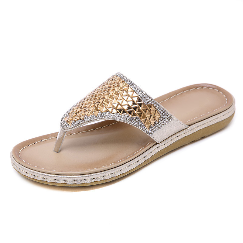 2020 Summer Women Slippers Bling Shoes Flat Beach Slippers Flip Flops Summer Ladies Shoes Soft Comfortable A905 4