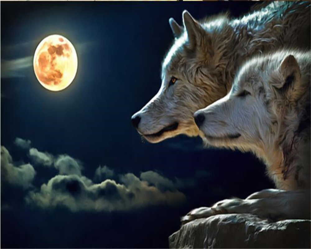 Popular Wolf Wallpaper-Buy Cheap Wolf Wallpaper Lots From