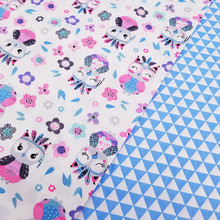 buulqo 100% cotton Twill Fabric  Cotton Patchwork Cloth DIY Sewing Quilting Fat Quarters Material For Baby&Child