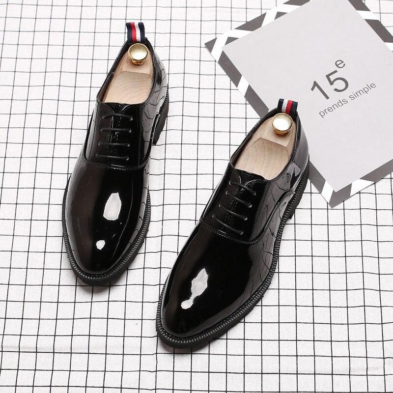 De Homens Elegante Couro 37 Casamento Black Designer Vestem Marca Sapatos Se Dos Luxo Msw8108073 46 Social 8wwqE7IC