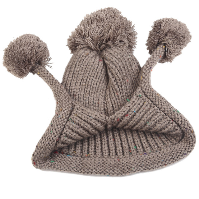 LOVIW Fashion Brand Winter Hat 3 Wool Balls Lady Cute Warm Beanie Cap Hot Sale Chapeu Femininas 2 Colors