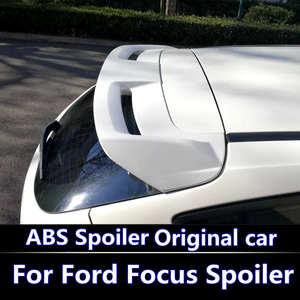 e47d2c701818 For Ford Focus 2012-2015 Spoiler ABS Material Car Rear Wing Primer Color  Rear Spoiler