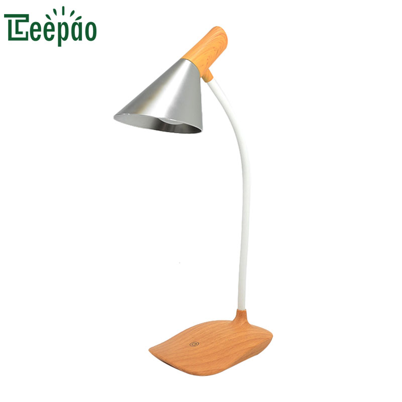 Simple Style Desk lamp USB led Table Lamp Simulated wood grain Table lamp Bedside Reading book Light LED Desk lamp Touch 3 Modes touch smart bedroom desk bedside lamp led lamp table light small desk lamp college students creative lamp color adjustable 1pc