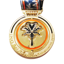 Die Cast Zinc Alloy Gold Plated Half Marathon Medal for Promotion Sale  k200224