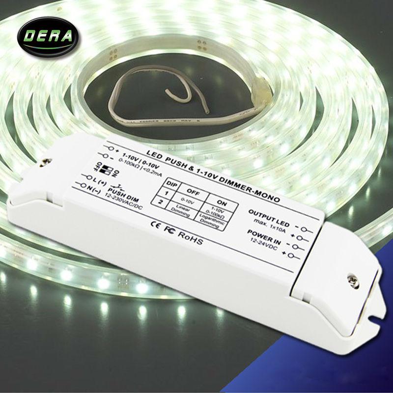 Variateur de LED gradateur PWM gradateur fluorescent et lampes LED 0/1-10 v variateur de gradation