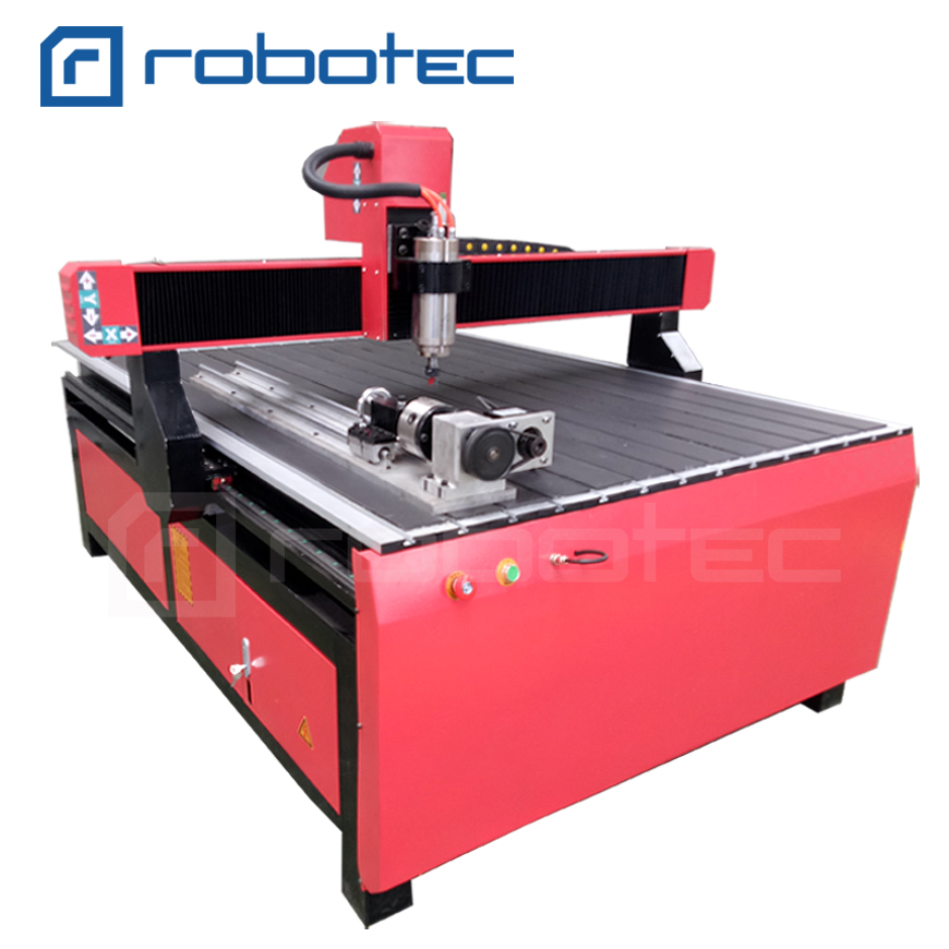 Mach3 Controller Wood 4 Axis Cnc Router 1218 In USA 1212 Wood 3D Aluminum CNC Engraving Machine
