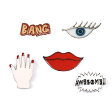 5PCS/Lot Packing Cartoon Metal Pin Badge Clothes Badges Backpack Beautify Icons Shoes Package Icon Sewing Accessories