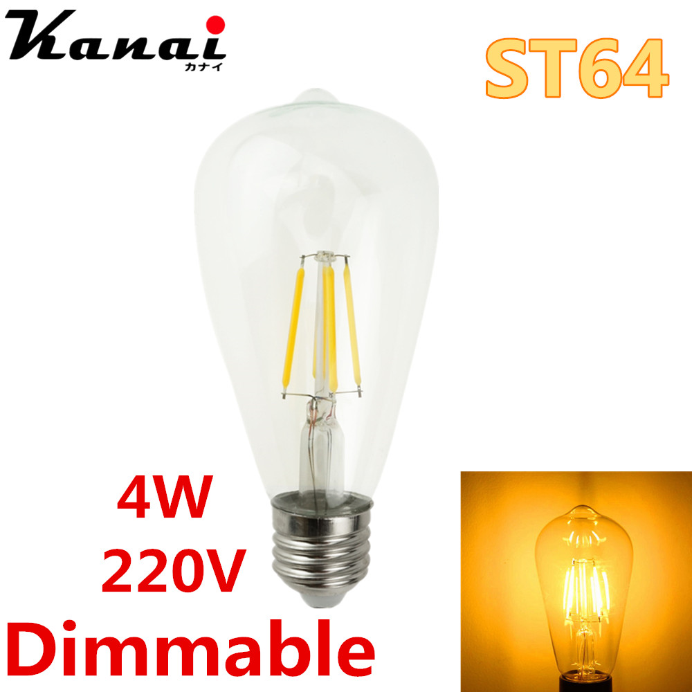 Edison Lampe Led Us 5 99 Kanai Edison Spot Led E27 220v St64 4w Dimmable Lampada Led Lamp Ampoule Led Filament Light Candle Luz Bulb Chandelier In Led Bulbs Tubes