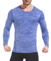 Men Compression Tights Shirt Jerseys Long Sleeves Fitness Excercise Workout Tops Tees Shirt
