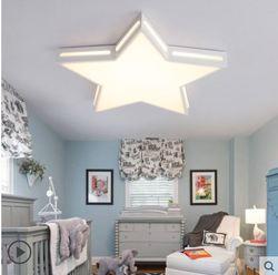 Gwiazda lampa sufitowa kreatywny ciepły pokój dziecięcy pięcioramienna światełka gwiazdy oko led chłopiec dziewczyna pokój lampy do sypialni|Oświetlenie sufitowe|   -