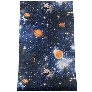 5D space Outer space planet universe starry sky planet wallpaper ceiling top wallpaper children's room blue theme room wallpaper taylor butler christine space planet earth