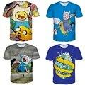 Alisister Nova Moda Tempo Aventura T-shirt Dos Homens/mulheres Camisa Bonito de T Camisas de impressão Dos Desenhos Animados 3d Unisex Gráfico Camiseta 3d Tee camisa