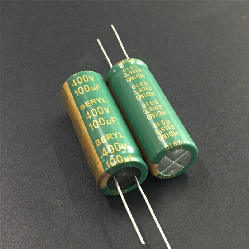 1pcs 400V 100uF 400V BERYL HD 16x42mm High quality capacitors