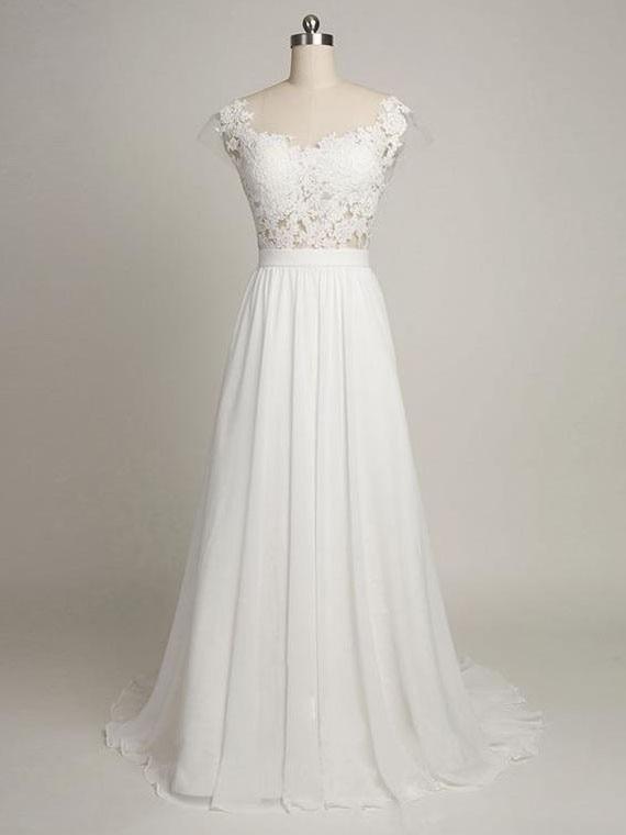 wuzhiyi wedding dress Beach vestido de novia sleeves robe de soiree Cheap robe de soiree dress made in China long dresses 2018