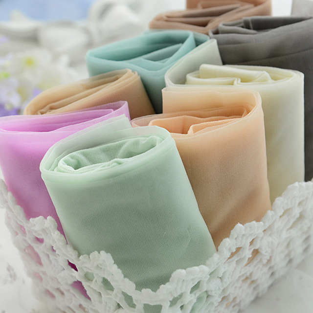 1e5e5765c W726 ice cream color core-spun yarn women girl tights Tiptoe transparent  resistance wire candy color tights pantyhose