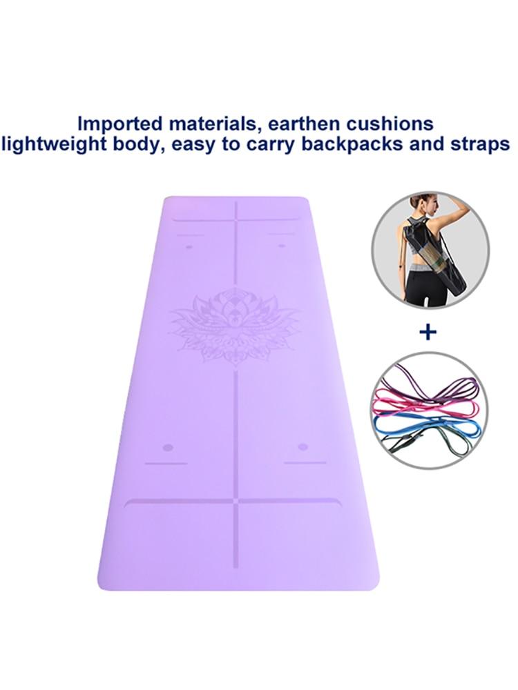 Waterproof TPE Eco-Friendly Position Line Gymnastics Fitness Yoga Mat Cushion