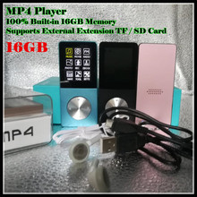 "Sport Muziek Hifi MP3 MP4 Speler 100% Ingebouwde 16 Gb Echt Geheugen 1.8 ""Lcd Media Video Game movie Fm Photo Viewer, met Tf/Sd Slot"