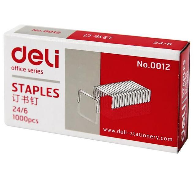 0012 24 6 metal silver color staple nailing 27 pages standard size