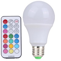 10pcs Led Bulb R80 10W E27 B22 RGBW LED Bulb Color Light RGB White Dimmable LED