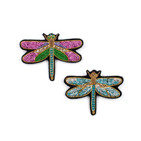 embroidery india silk pin on patches for clothing brooch dragonfly badge designer patches for jeans parches bordados para ropa