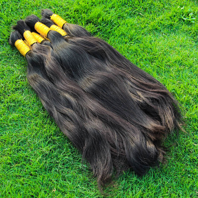 Hot Sale 8A Virign Brazilian Bulk Human Hair For Braiding 100% Unprocessed Human Braiding Hair Bulk No Weft Natural Color