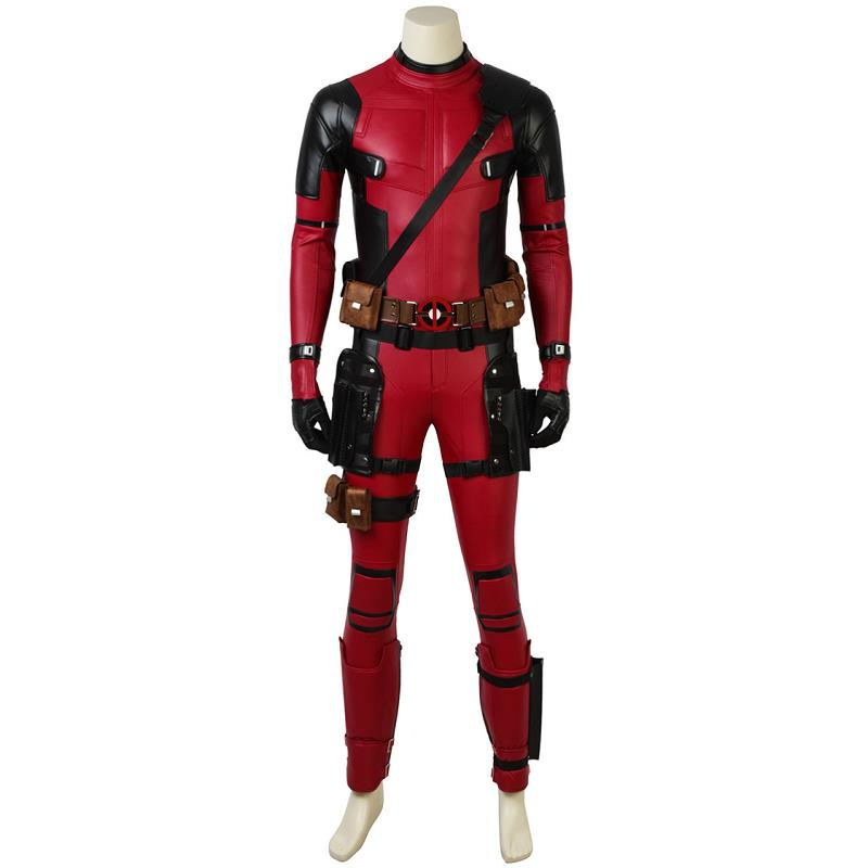 Deadpool 2 Costume Wade Wilson Cosplay Outfit Jumpsuits Onesies Halloween Clothes Carnival Party Custom Made Adult