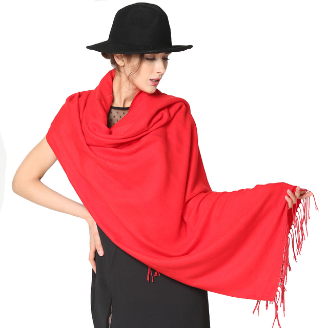 Cashmere Scarf Women Oversized Blanket Scarf Wrap Long Wool Scarves Women Pashmina Shawls And Scarves High Quality Fashion Women