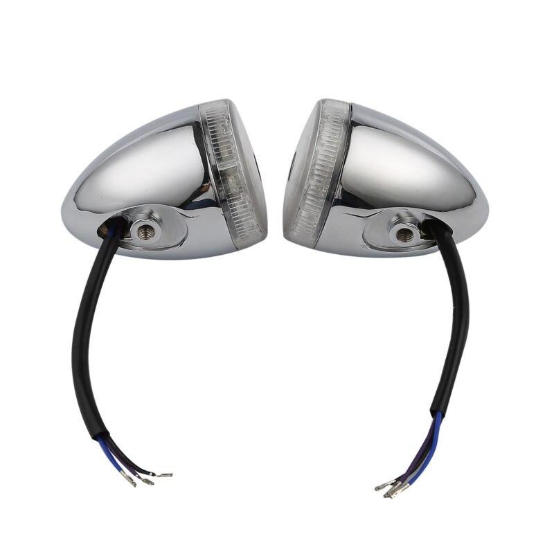 LED Bullet Front Turn Indicator Lights Set For Harley Touring Street Road Tri Glide Ultra Limited FLHX FLHTK 14-18