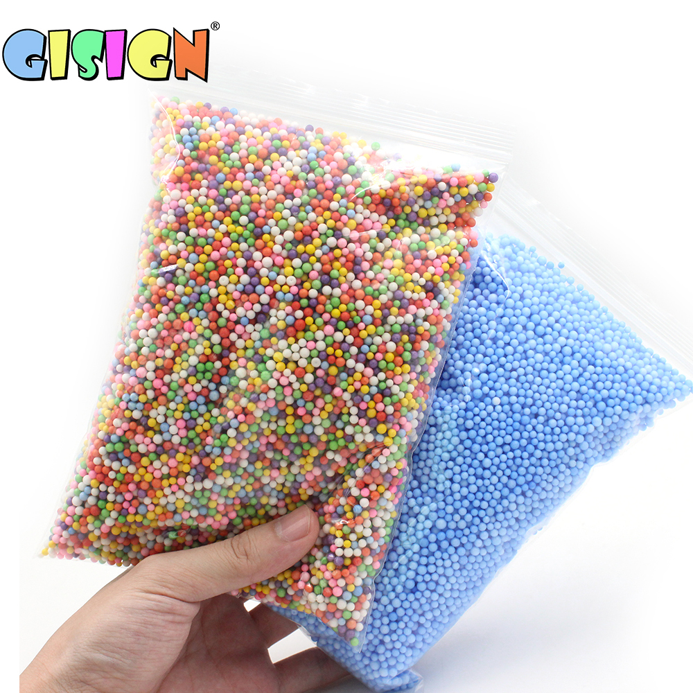 China Clay Suppliers Colorful Foam Beads Slime Supplies Balls Tiny Snow Charms Filler Addition For Slime Mud Particles