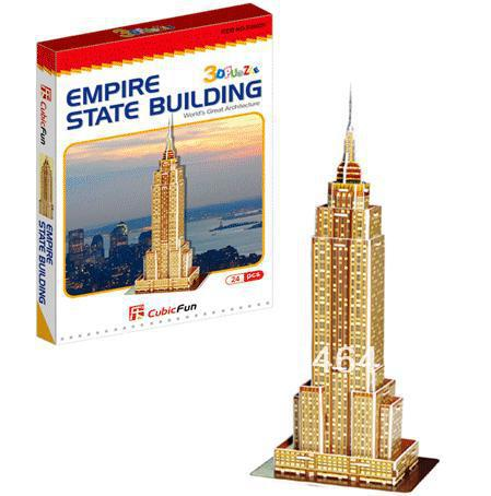 Empire State Building CubicFun 3D educational puzzle Paper & EPS Model Papercraft Home Adornment for christmas gift series s 3d puzzle paper diy papercraft double decker bus eiffel tower titanic tower bridge empire state building